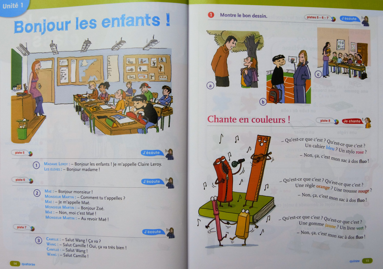 Voorbeeldpagina 2 tekstboek Tip Top A1.1.