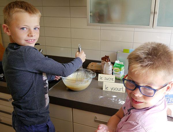 Franse les in de keuken.